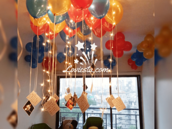 balloon decoration at home / office