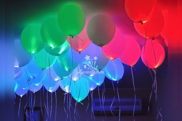 sparkling led balloon decoration