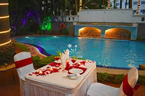 Romantic Poolside Dinner Koramangala