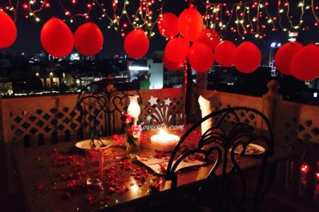 Romantic Dinner on Rooftop Jaipur