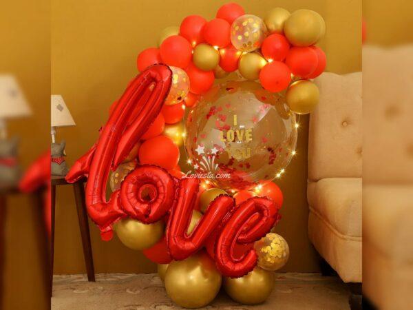 Love Balloon Bouquet Surprise
