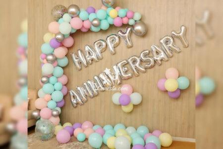 Pastel Balloon Decoration