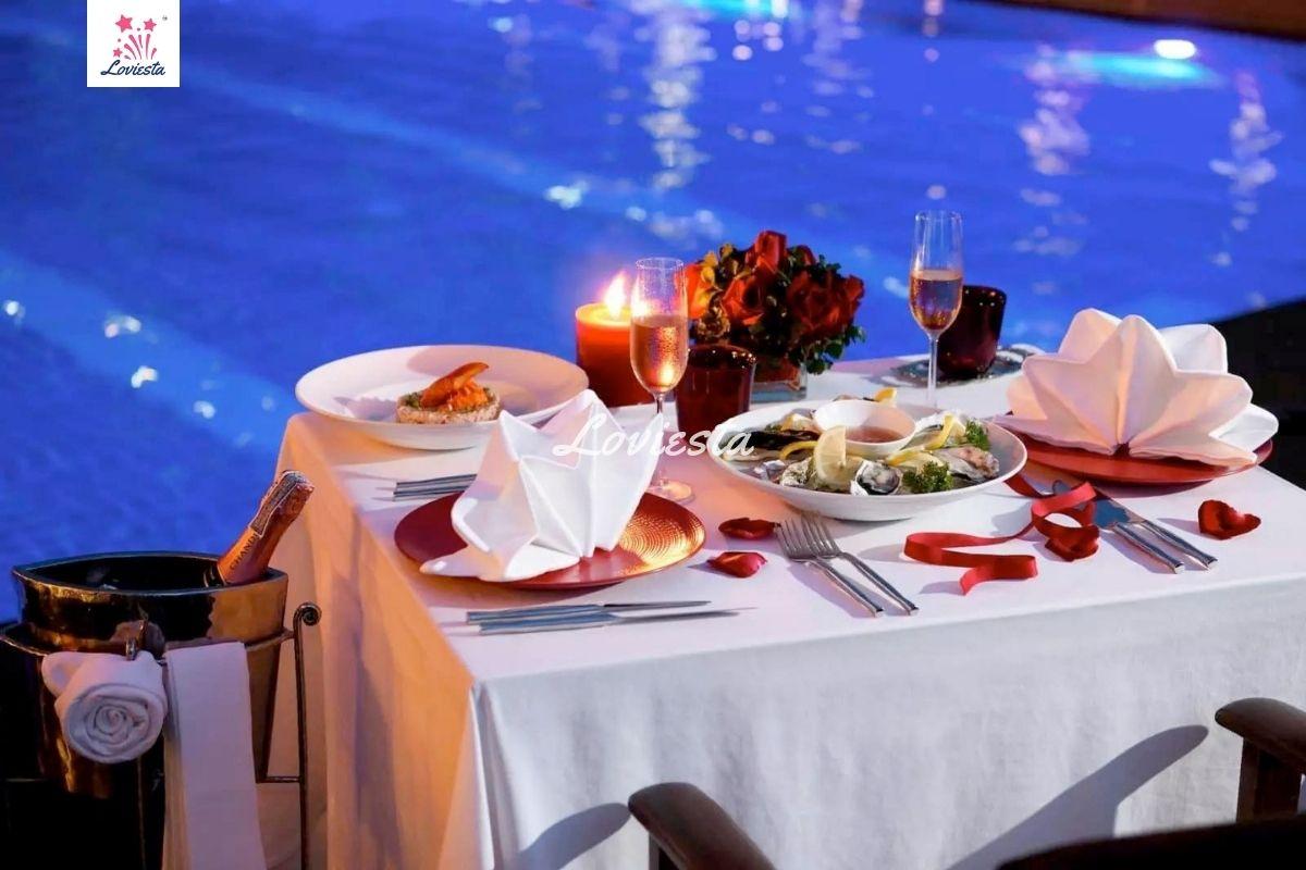 Romantic Dinner By The Poolside At Country Inn & Suites In Gurugram