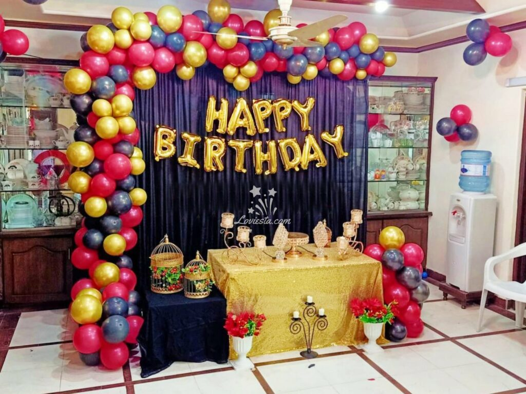 Half Arch Balloon Decoration At Home