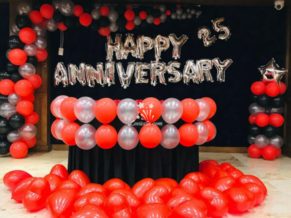 Happy Anniversary Theme Decoration At Home