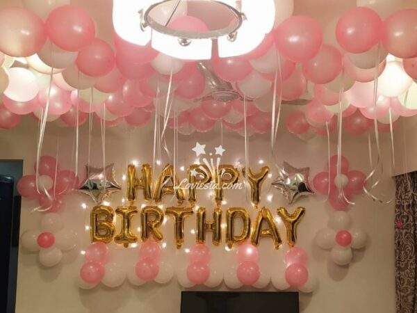 Surprise Balloon Decoration At Home