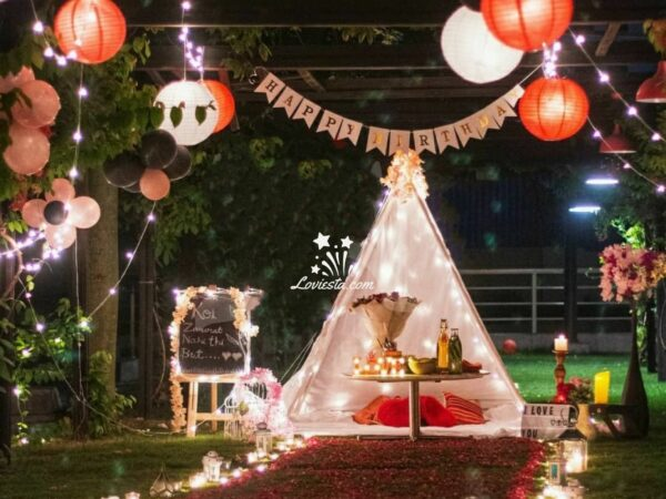 Romantic candlelight Dinner under canopy Hyatt Place Gurgaon