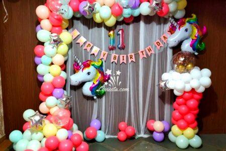 Unicorn theme decoration at home