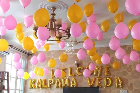 Hanging Balloon Decoration At Home In Delhi & NCR