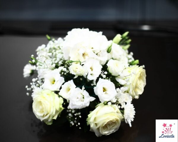 White Roses Bouquet Delivery At Home